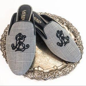 Ralph Lauren Cadi Li Plaid Loafer Mule Flats 10B